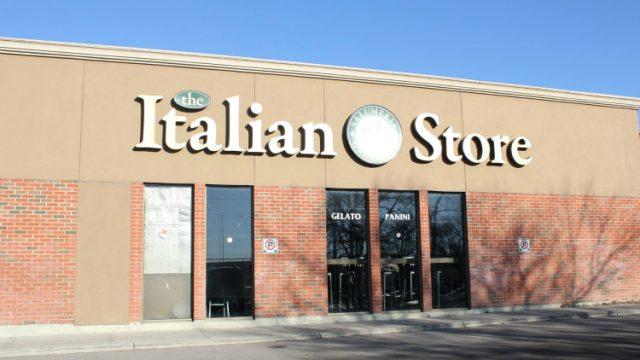 Italian store imported italian food